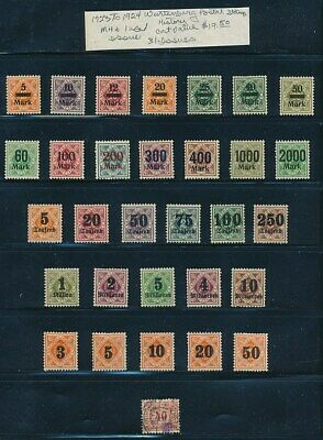 Own Part Of Wurttemberg Stamp History 31 Issues Cat Value $19.50