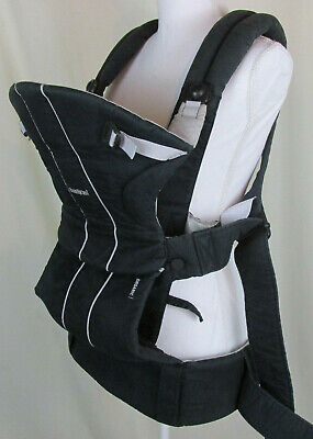 Baby Bjorn Organic Baby Carrier Front Pack Black Infant Toddler 13-31 Pounds