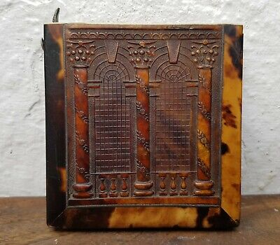 Old Antique 19th Century Faux Tortoiseshell Card Case-For Spares or Repairs
