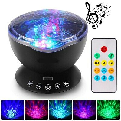 Calming Autism Sensory LED Light Projector Relax Ocean Night Music Projection AU