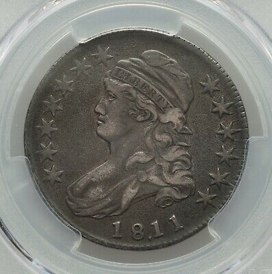1811/10 Capped Bust Half Dollar, PCGS VF-35