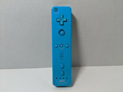 Official Nintendo Wii Blue Motion Plus Controller Wiimote Tested [Used]