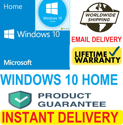 1Windows 10 Home 64&32 Bit Fast Delivery Genuine Product Key
