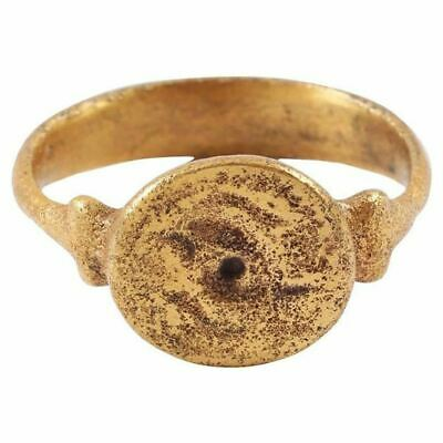 FINE MEDIEVAL MAN'S RING, 12th-13th CENTURY SIZE 10 ¾