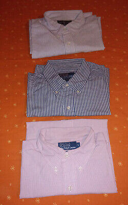 Lotto 3 Camicie POLO by RALPH LAUREN 100% Cotone TG L
