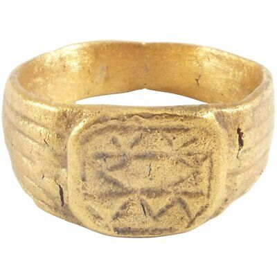 FINE EUROPEAN PILGRIM'S RING 8th-9th CENTURY AD SIZE 5 ¾