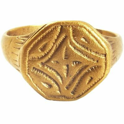 GOOD EARLY CHRISTIAN PILGRIM'S RING 7th-10th CENTURY SIZE 7