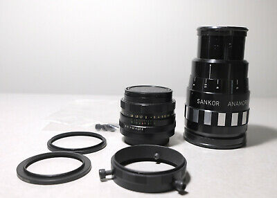 Sankor 16D Anamorphic Lens + Helios 58mm and Red Stan Clamp