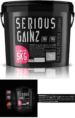 The Bulk Protein Company - Serious Gainz – Mass Gainer Protein Powder – Stra