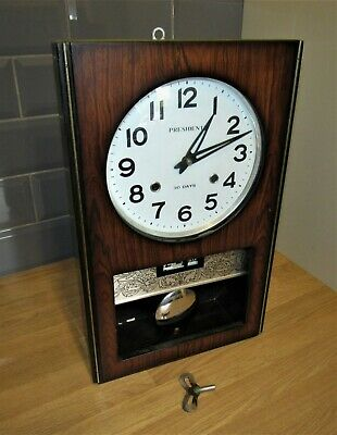 Very Nice Vintage 'President' 30 Day Striking Wall Clock With Calendar