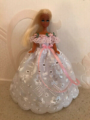WHITE Gown to fit Palitoy 6.5 inch Pippa / Dawn Doll