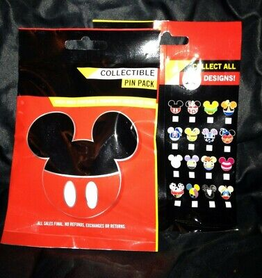 DISNEY Mickey Mouse Icon Mystery Pouch PIN PACK 5 PINS PER PACK SEALED
