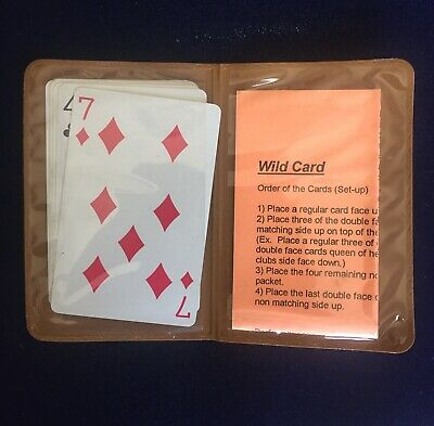 """Vintage Magic Trick Playing Card Packet Frank Garcia's """"Wild Card"""" 1970's"""