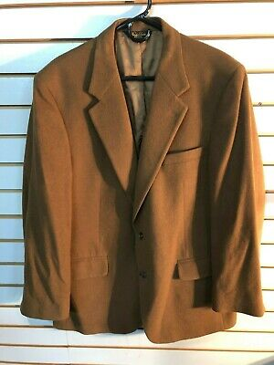 Brooks Brothers Brown Men's Camel Hair 2 Button Blazer- Size: 43R