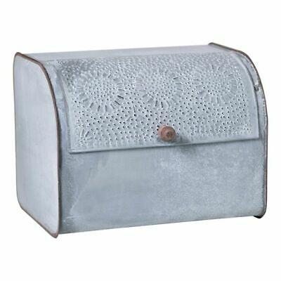 Punched Metal  Storage Bin Kitchen Bread Box