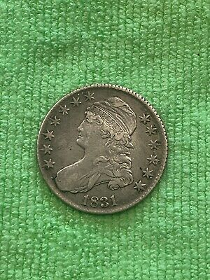 1831 Bust Half Dollar High Grade Beautiful Coin