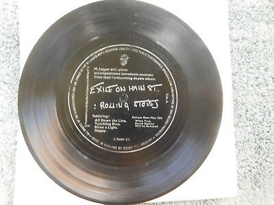 Mick Jagger on piano introduces Rolling Stones  - Exile On... -  UK Flexidisc 7""