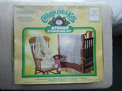 Cabbage Patch Afghan Kids Stenciling Kit New 1984 My Little Girl 26250