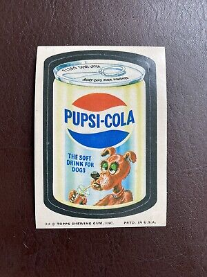 1974 Very Rare Topps Wacky Packages Original 10th Series PUPSI COLA