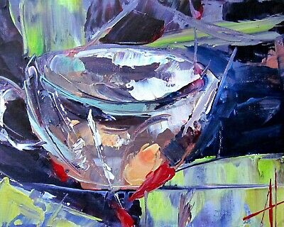 Wild Tea Cup Modern Impressionism Art Original Painting Anne Thouthip