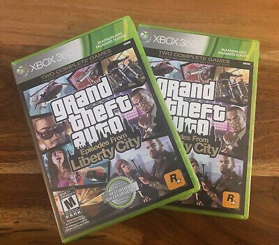 2 x (360/XBOX ONE) GRAND THEFT AUTO EPISODES FROM LIBERTY CITY  *NEW SEALED!