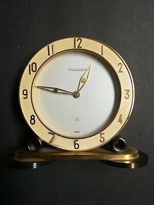 Rare Jaeger-LeCoultre table clock with 8 day movement, art deco, 1940´s WITH BOX