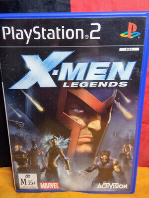 X-Men Legends (Sony Playstation 2 PS2, PAL, 2004, Activision) - Includes Manual
