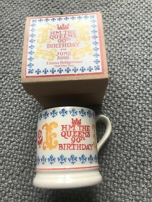 Emma Bridgewater Her Majesty The Queens 90th Birthday June 2016 Mug, BN boxed