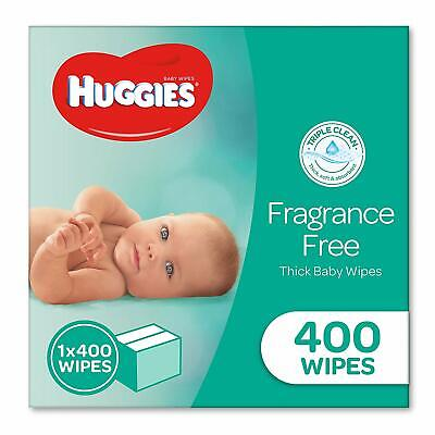 HUGGIES Baby Wipes Fragrance Free Baby Wipes, 400 Wipes Refill Pack AU STOCK