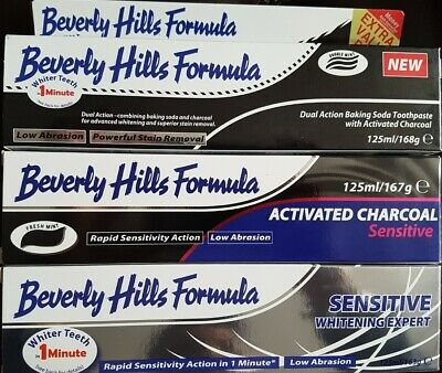 Beverly Hills Total Protection + Sensitive + Charcoal + Whitening Toothpaste XL