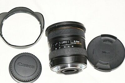 Sigma EX 10-20mm DC HSM Wide Angle AF Lens for Canon   Excellent Condition