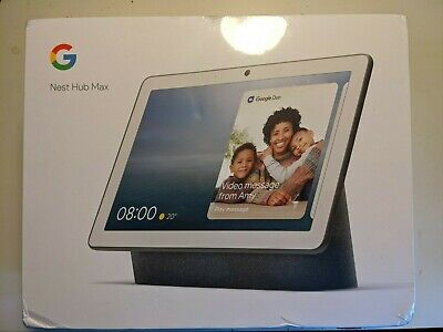 Google Nest Hub Max -Smart Home Controller - Charcoal- Brand new Boxed Unwrapped
