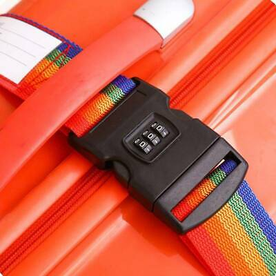 COOL Style Travel Luggage Strap Baggage Backpack Safe Belt + Secure Coded Lock