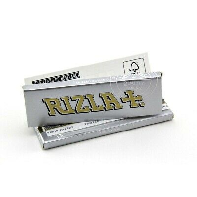 Rizla Silver Rolling Papers 5 Booklets Super Thin Standard Regular Size