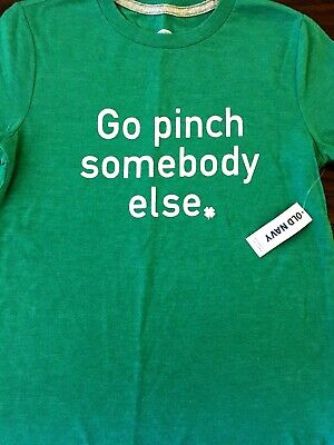 NWT New With Tags Old Navy Boys Girls St Patricks Day Pinch Shirt Size 8 Medium
