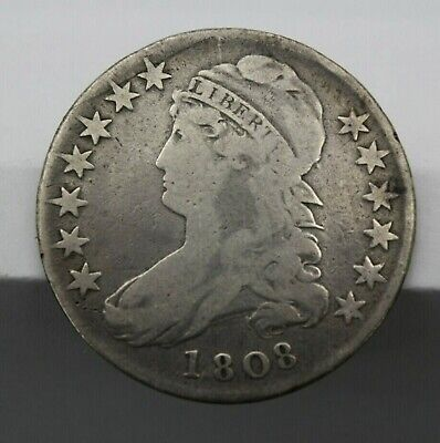 1808 Capped Bust Silver  Half Dollar