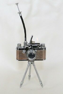 Vintage  LUMIX  Camera  Lighter with Expandable  Tripod in Working Condition