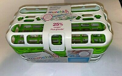 Munchkin Pretty Green and White High Capacity Dishwasher Basket           ok4
