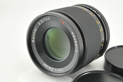 *Excellent+++* Contax Carl Zeiss Sonnar 100mm f/3.5 MMJ Lens from Japan #4063