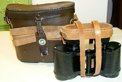 OMZ Bulgarian B8x30 Military Binoculars with Reticle, Case & Filters c.1960.
