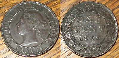 1900 Canada Large Cent Coin