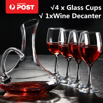 Meco 1700ML Crystal Glass Wine Decanter Carafe Elegant Pourer Container +4