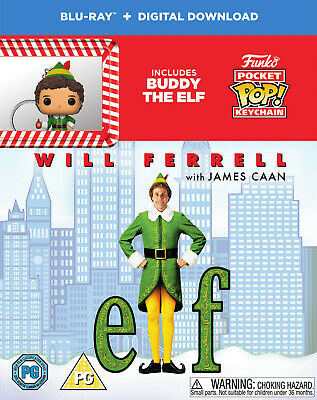 NEW Bluray  Elf [Blu-ray] [2003] with Funko! Pop Keyring -Will Ferrell