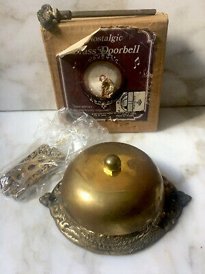 """Nostalgic""Twist Hand-Turn Solid Brass  Mechanical Doorbell Chime"
