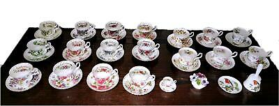 Rare Set Of 12 Royal Albert Flower Of The Month Cup & Saucers + 6 Others, Extras