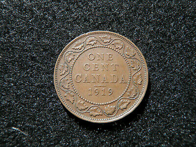 1919 Canadian Large Cent - Canada Penny Copper Coin Old Rare Money Barter