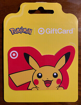 Target Pokemon gift card. No Money On Card!