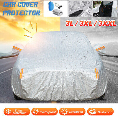 Heavy Duty Full Car Cover Cotton Breathable Dust Protection Outdoor Waterproof