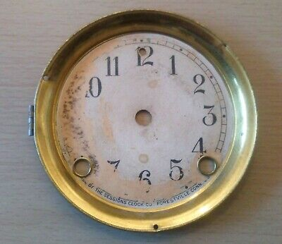 Sessions 8 day mantel clock dial face, glass and bezel  spare