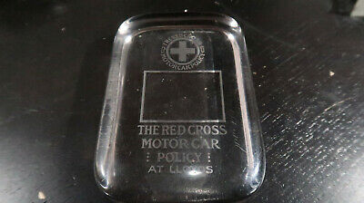 The Red Cross Motorcar Policy Glass Paperweight At Lloyds
